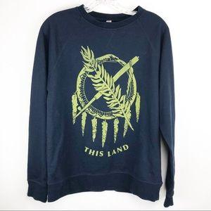 🍁Next Level Apparel Blue Sweatshirt